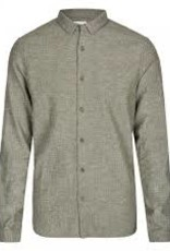 Nowadays Heavy Brushed Linen Shirt Thyme