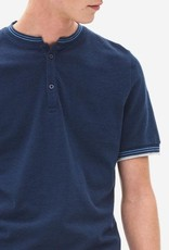 Nowadays Stand Up Collar Pique Polo Night Sky