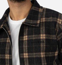 Woodbird Plucked Wool Jacket Grey Check