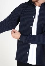 Woodbird Crally Stripe Shirt Navy