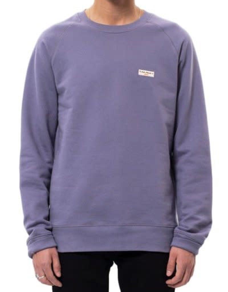 Nudie Jeans co Samuel Logo Sweatshirt Lilac