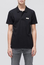 Nudie Jeans mikael logo polo shirt black