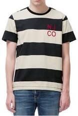 Nudie Jeans Roy Block Stripe White/Black