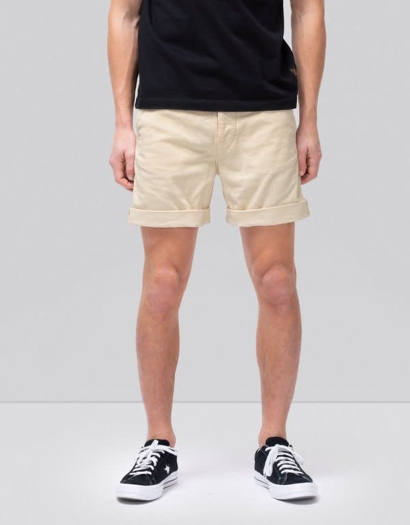 NUDIE JEANS LUKE SHORTS CORD DUSTY WHITE