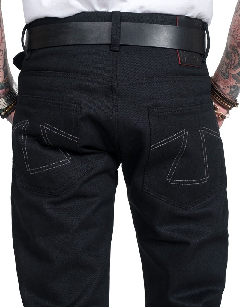 ED B 73 Fit Heavier Black Denim Pants