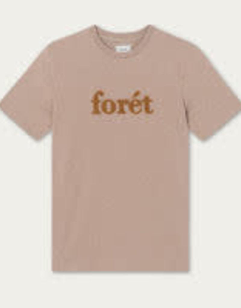 foret Forét Log T-shirt Beige/Melange/Tan