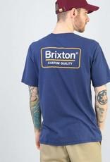 Brixton Palmer Prem Tee Patriot Blue