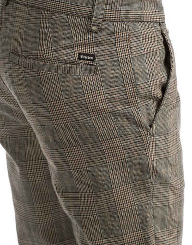 Brixton Chino Pant Grey Plaid