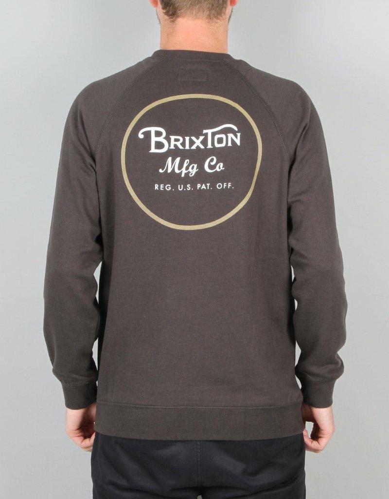 Brixton Wheeler Crewneck Sweater Washed Black