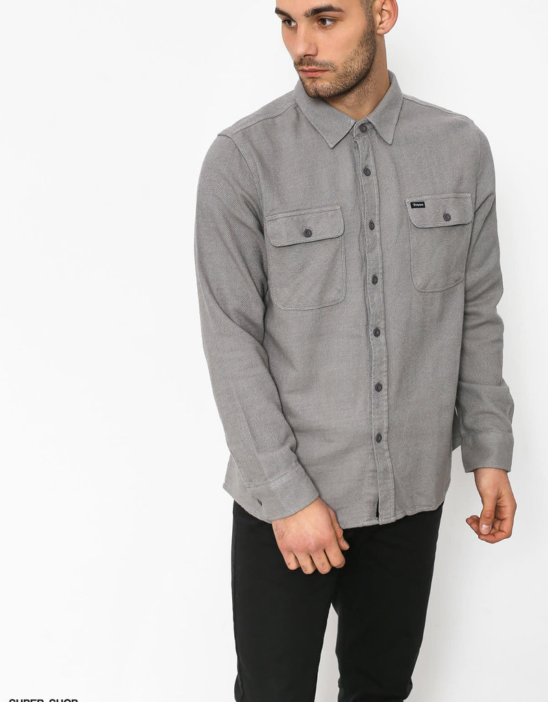 Brixton Bowery Solid Flannel Grey