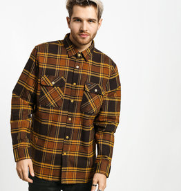 Brixton Bowery Flannel Brown/Gold