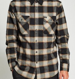 Brixton Bowery L/s Flannel Black/Cream