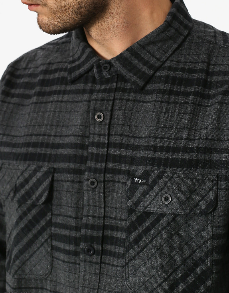 Brixton Archie Flannel Black/Heather Charcoal