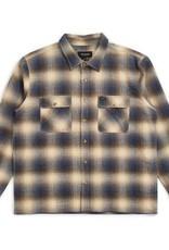 Brixton Archie L/S Flannel Blue/Brown