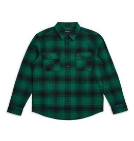 Brixton Bowery L/S Flannel Green/Black
