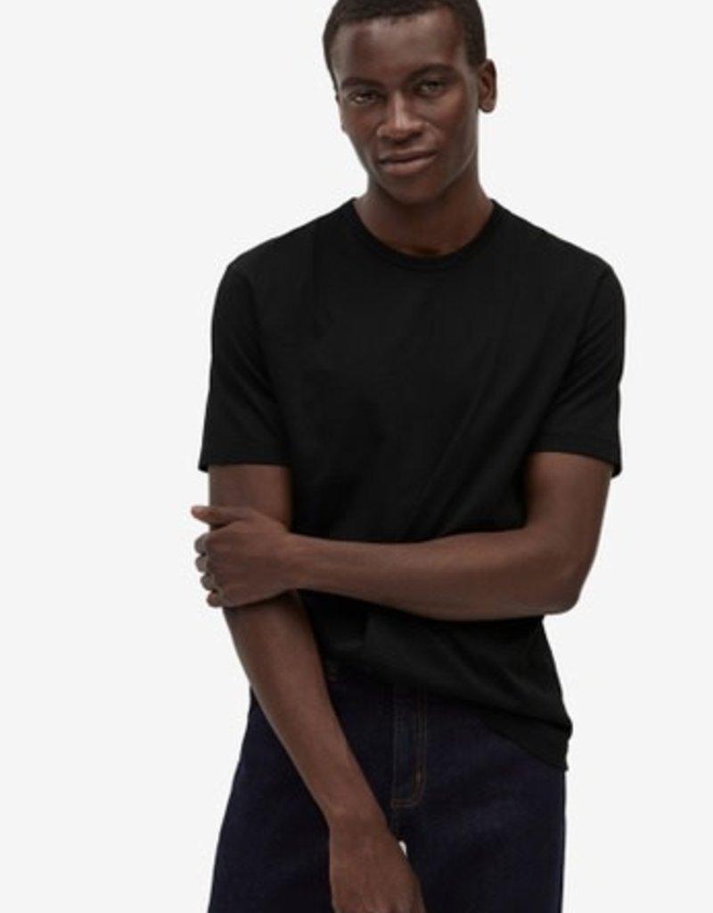 Denim.Lab Crew Tee Mercerized T-Shirt Black