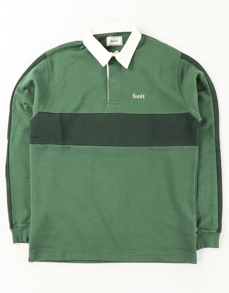 foret Forét Valley Rugby Shirt Dark Green