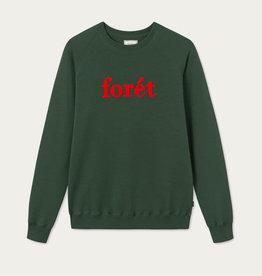 foret Foret Spruce Sweatshirt- Dark Green/Red