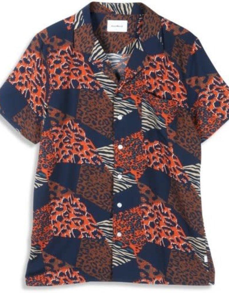 Woodbird Lost Cheetah Shirt Navy