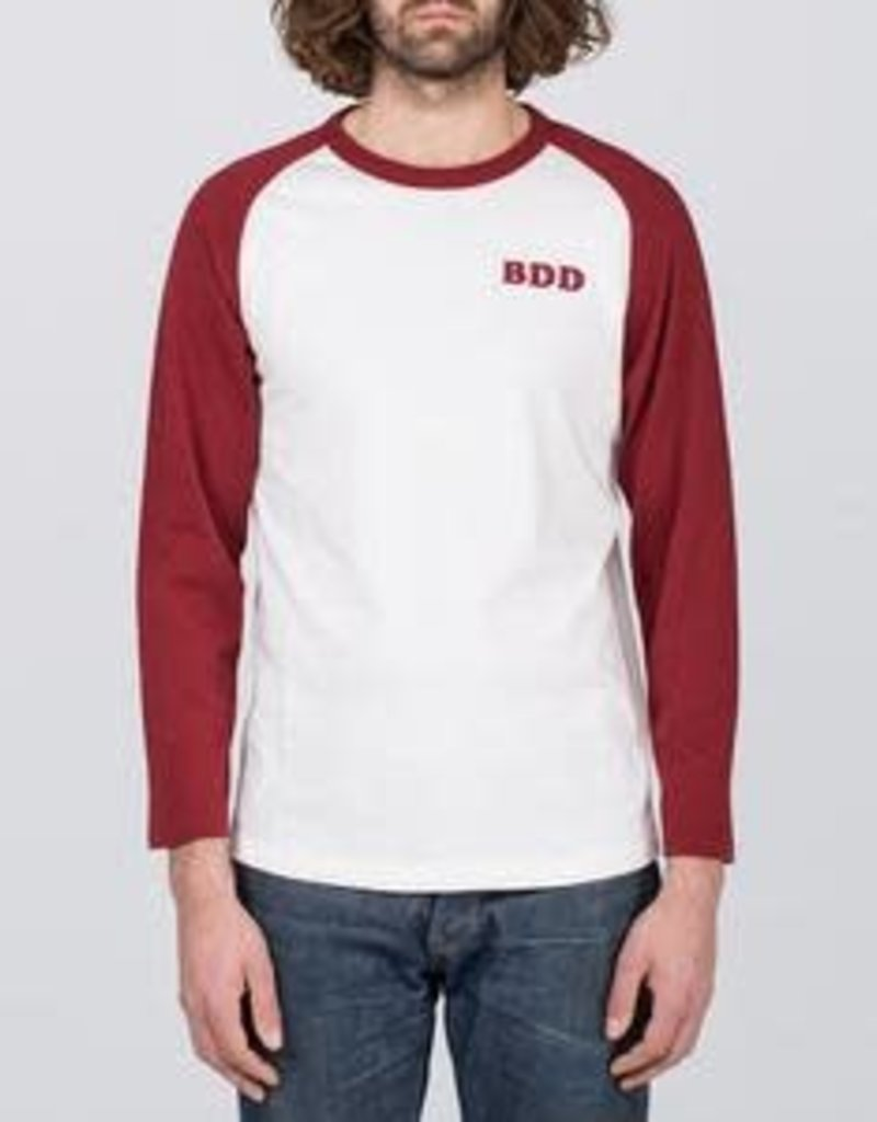 BENZAK off white &burgundy heavy jersey