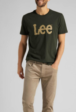 Lee Wobbly Logo Tee Serpico Green