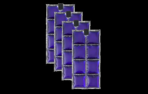 INUTEQ 100% BIO PCM Pac, set di 4, 8 celle frigorifere per gilet di raffreddamento