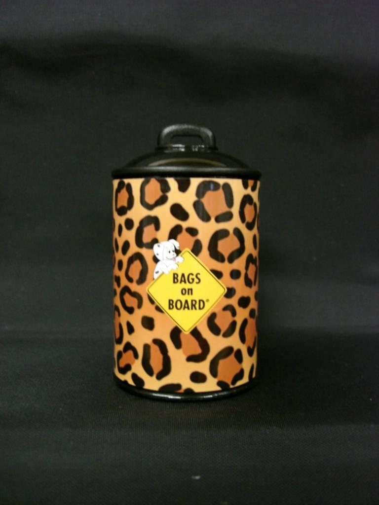 Bags on board Poepzakhouder doosje in tijgerprint + rol