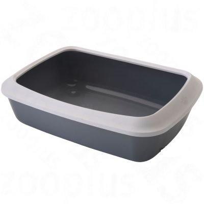 Savic kattenbak met rand grijs