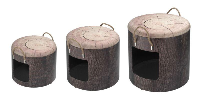 D&D kattenslaapbox wood