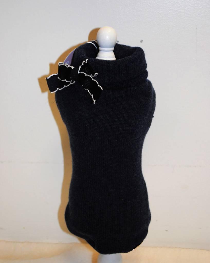Baby dog boutique blauwe pull met strik 100% cashmere