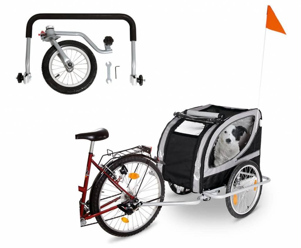 Verbazingwekkend grote fietskar met vering en luchtbanden - Snoef dierenwinkel OM-88