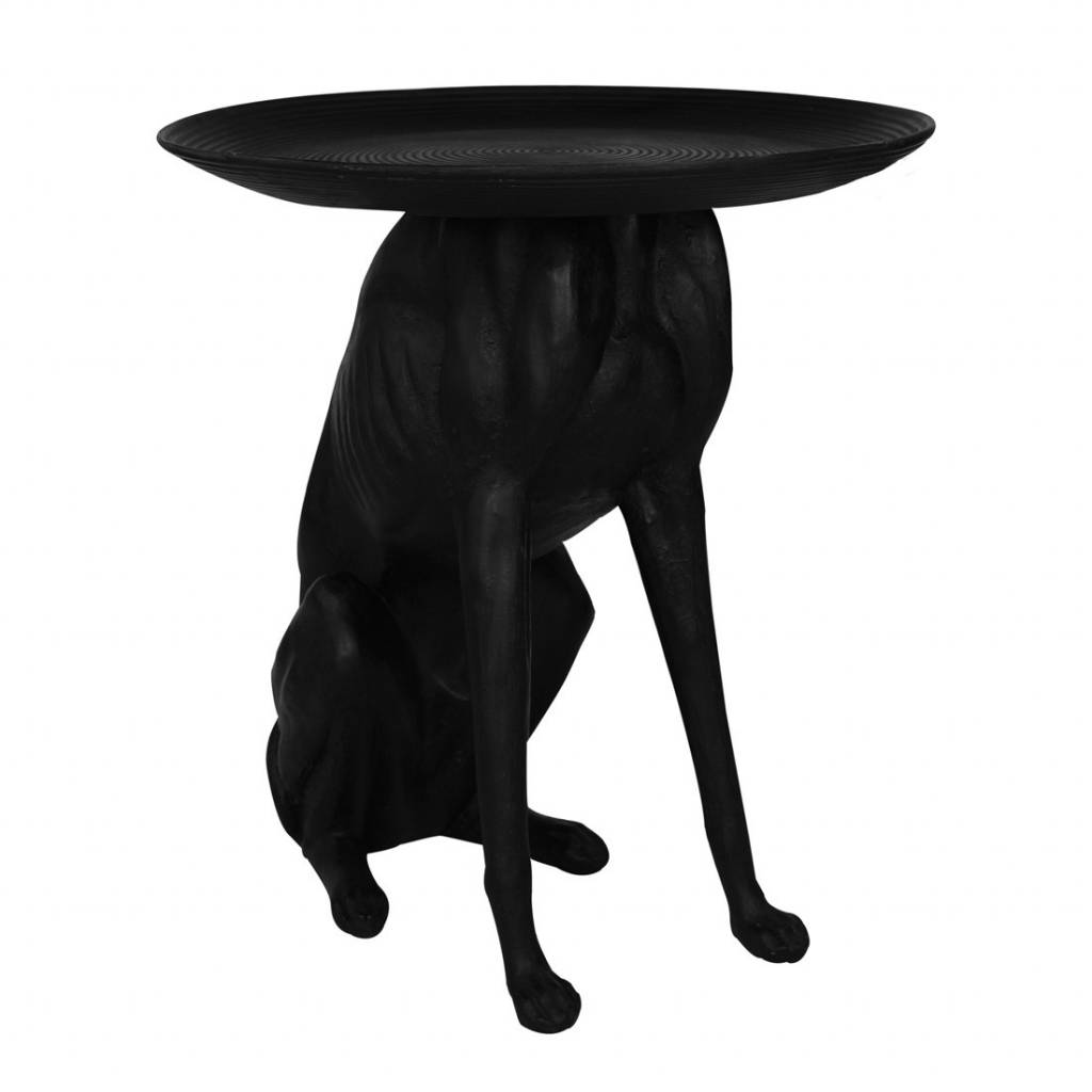 Happy house bijzettafel hond zwart