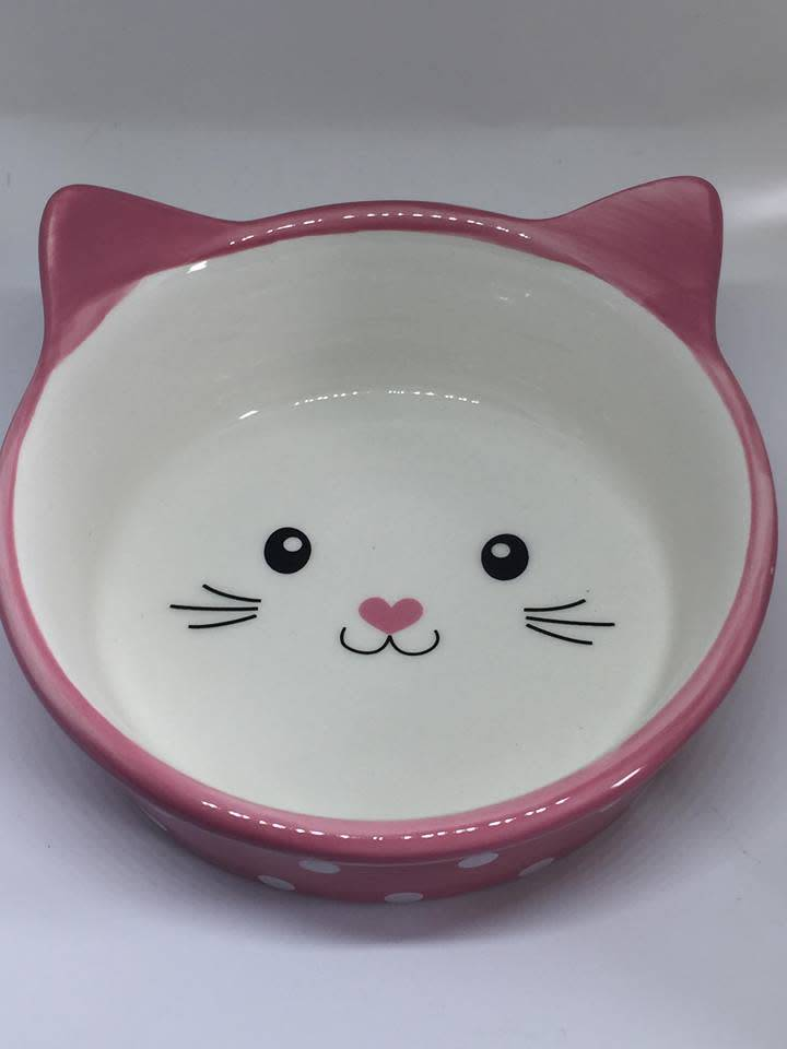 polka cat pink
