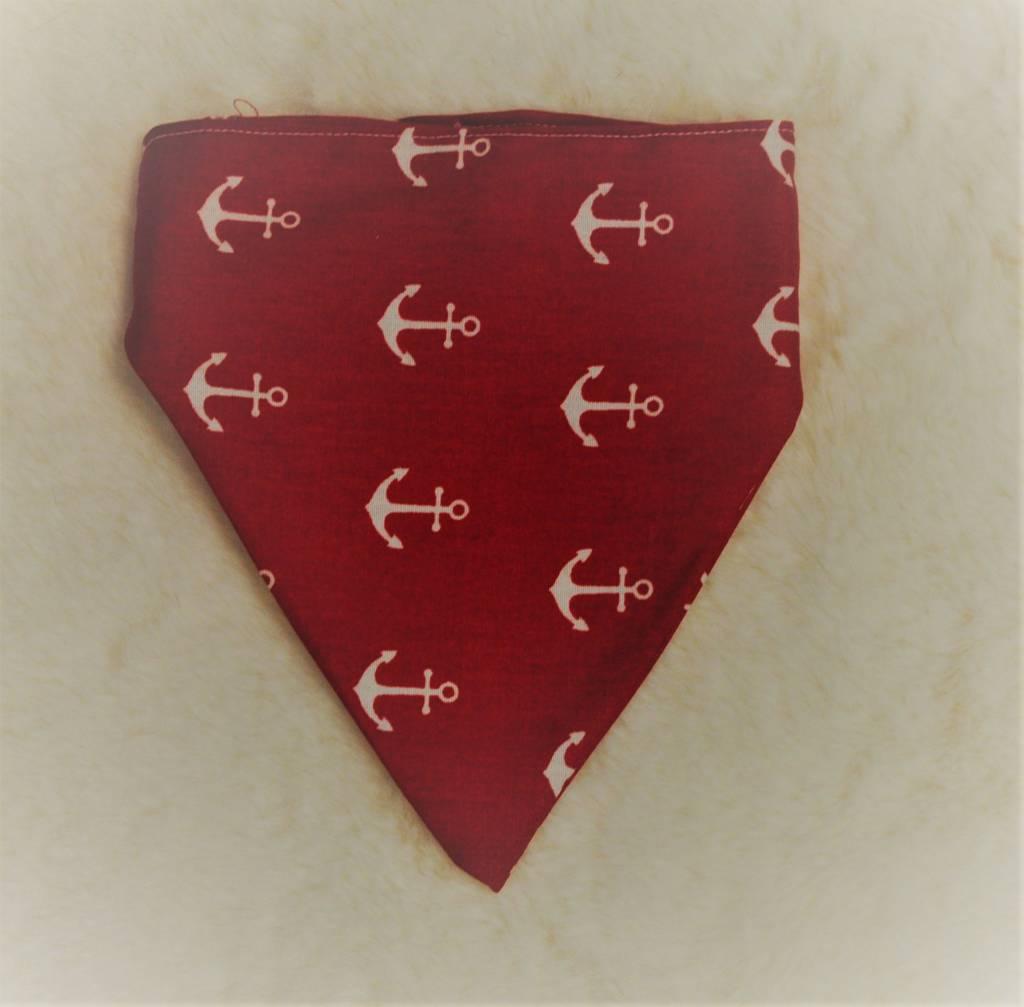 Snoef bandana rood met ankers