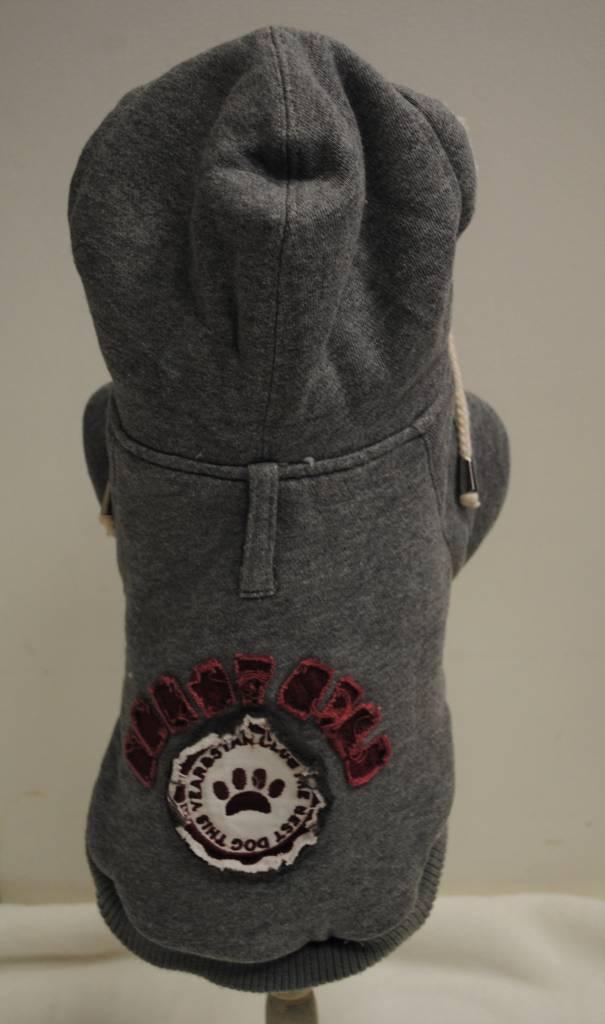 sweater pluche grijs
