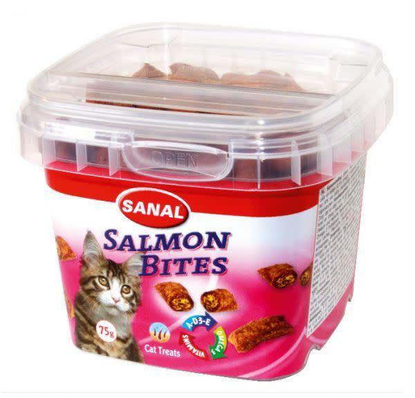 sanal cat sanal salmon bits 75gr