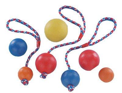 Nobby rubber bal ( 7cm) aan touw