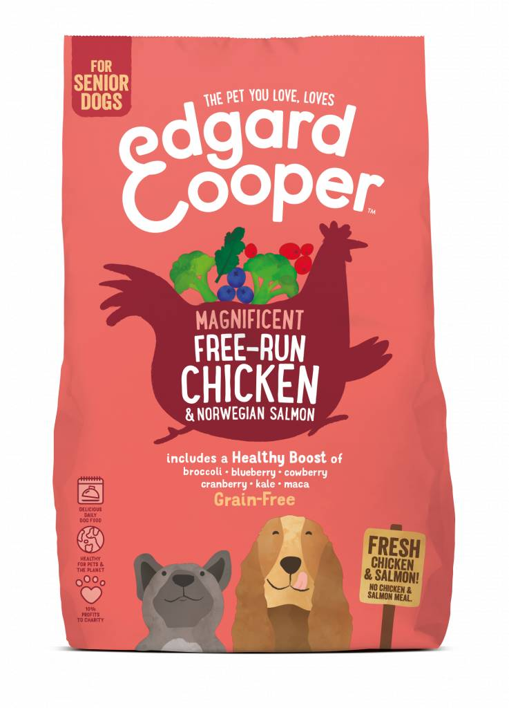 Edgard & Cooper 700 gr SENIOR kip en noorse zalm
