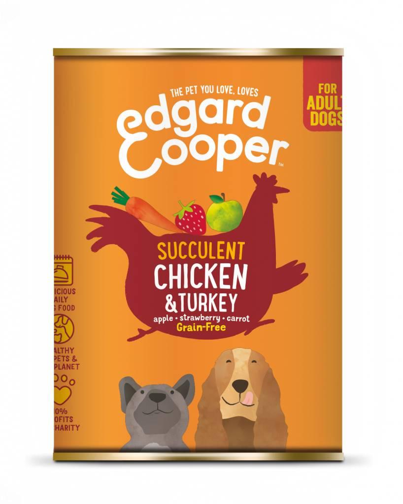 Edgard & Cooper blik kip en kalkoen 400gr