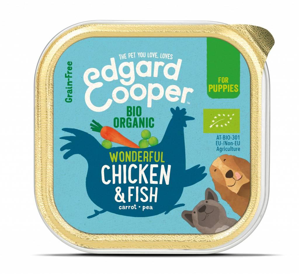 Edgard & Cooper bio kip en vis voor puppies 100gr