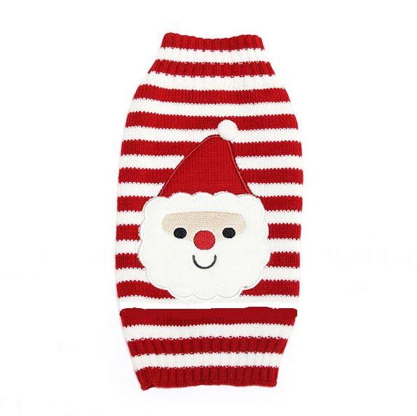 Snoef rood witte streep met kerstman pull