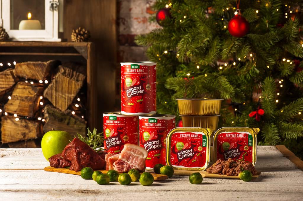 Edgard & Cooper blik 400gr Kerstmenu (wild bacon en spruitjes)