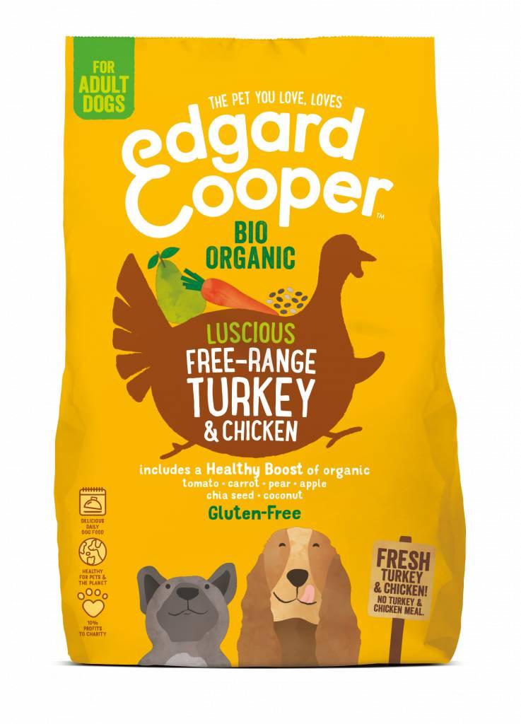 Edgard & Cooper 700gr BIO kalkoen en kip