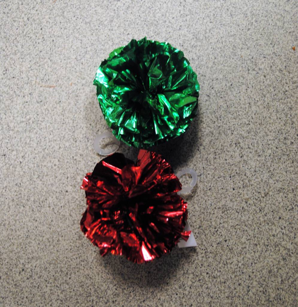 crinkle ball groen of rood