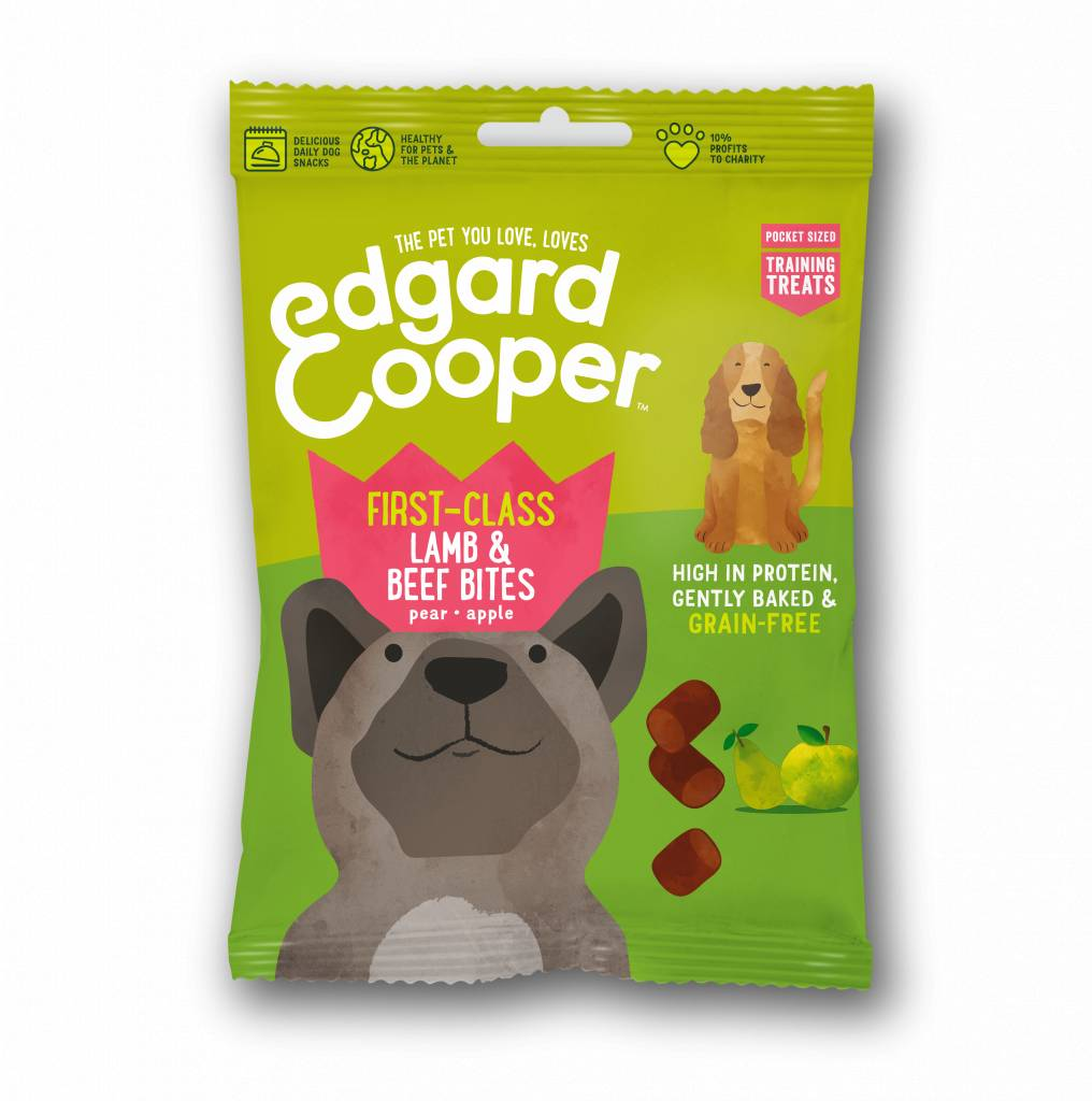 Edgard & Cooper dog bites lam en rund 50 gr