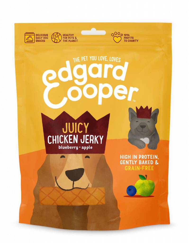 Edgard & Cooper dog jerky chicken 150Gr