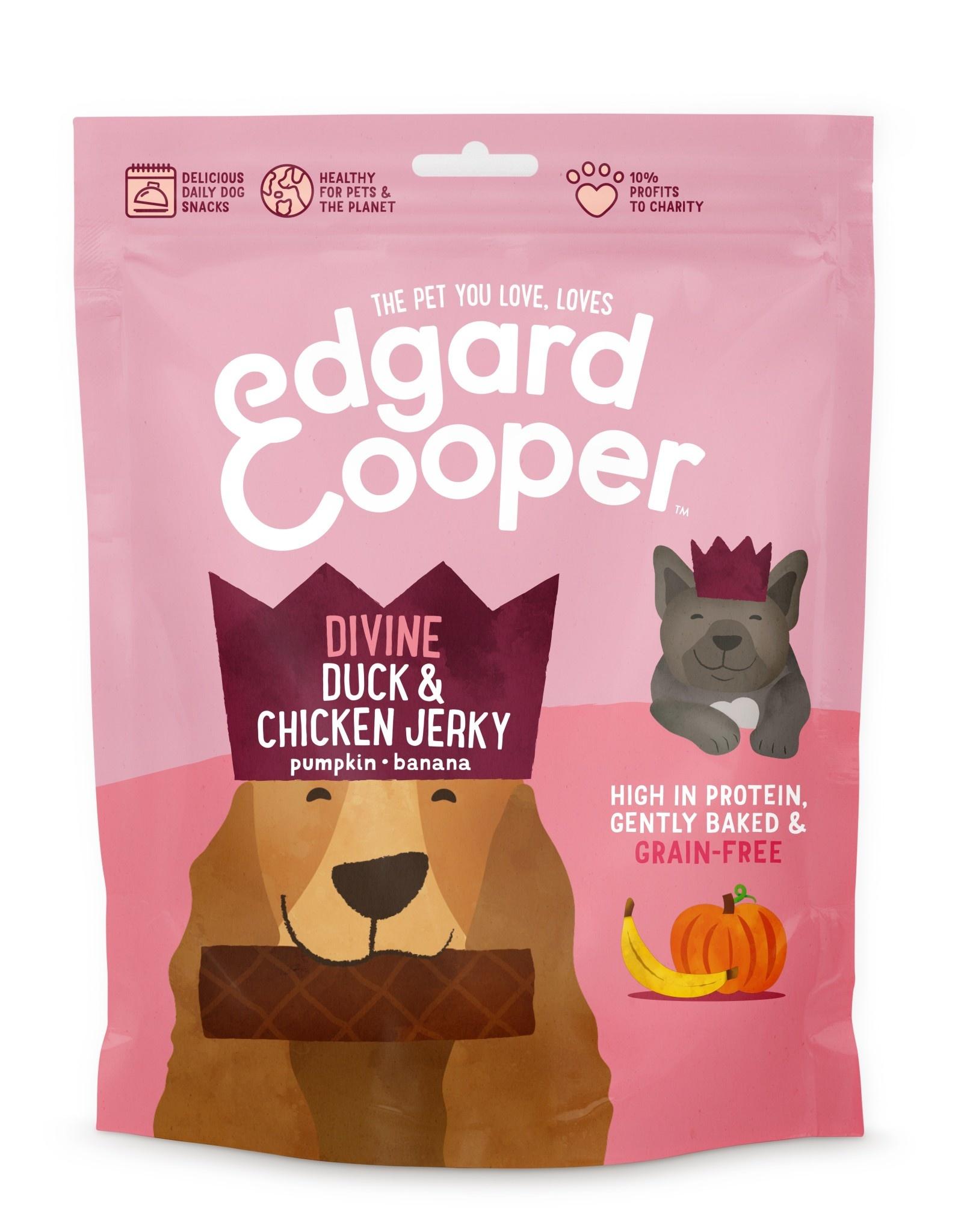 Edgard & Cooper dog jerky eend en kip 150gr