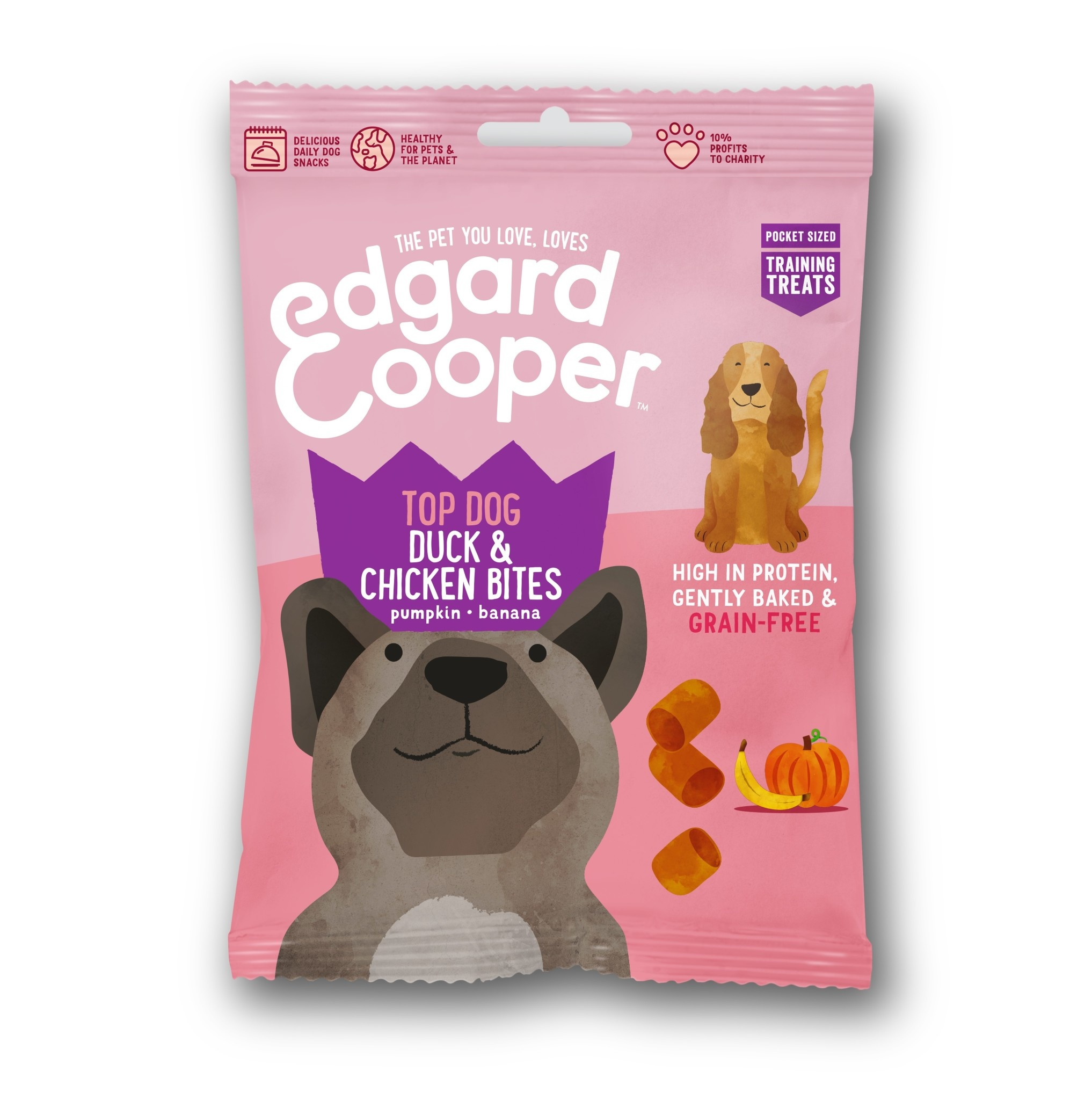Edgard & Cooper dog bites eend en kip 50gr