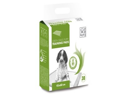 M pets green grass puppy pads 45x60cm 30st