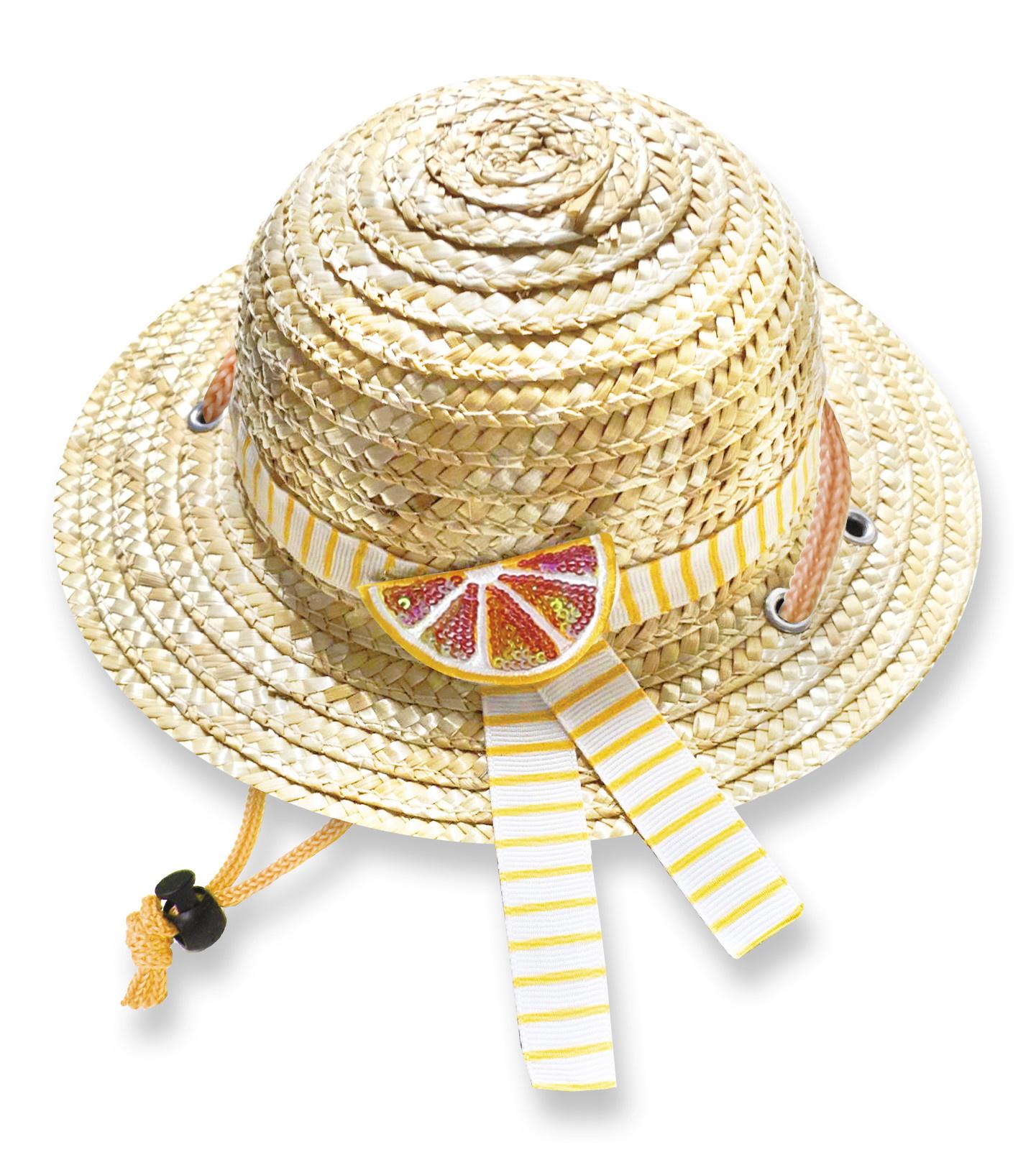 Croci stro hoed orange